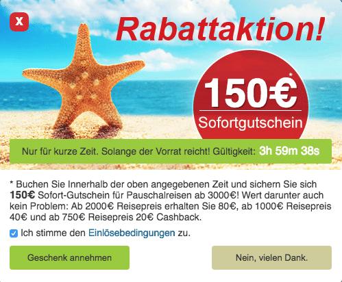 12-Travel.de – 150€ Cashback Gutschein