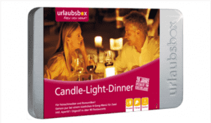 Urlaubsbox Candle-Light-Dinner Deluxe