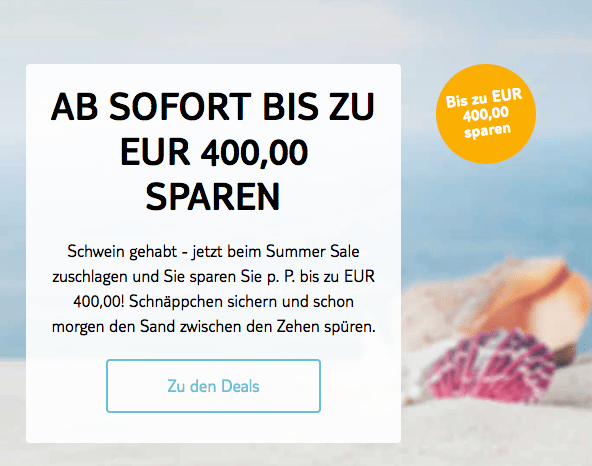 Zu den 400Euro Spardeals von TUI Magic Life