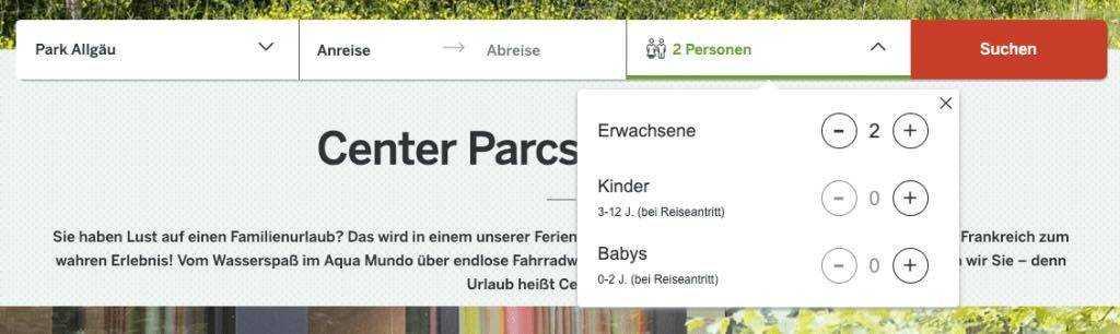 Center-Parcs-buchen-3 Personen wählen