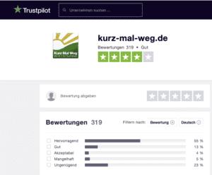 Bewertung kurz-mal-weg.de