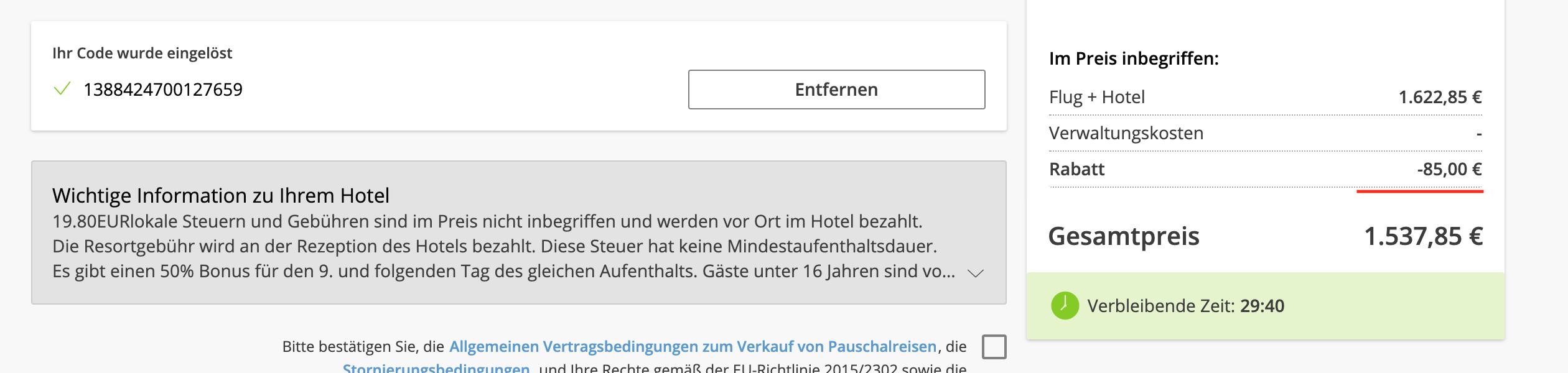 Lastminute.de Gutschein Flug+Hotel2