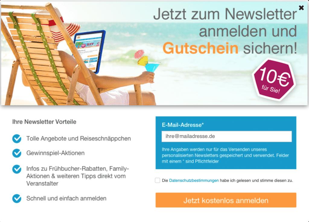 10€ Gutschein für Anmeldung am FTI Newsletter