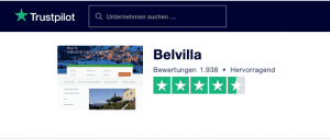 Bevilla Trustpilot