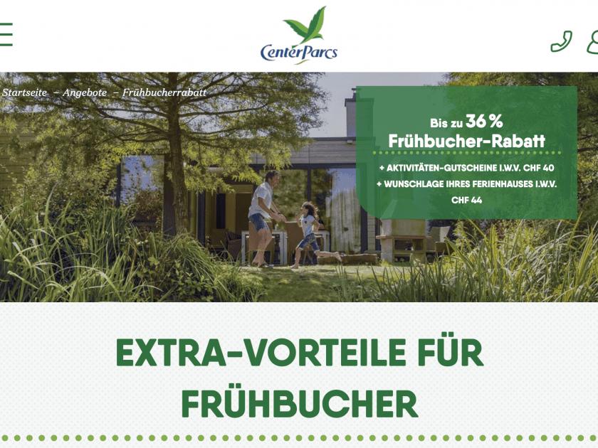 Center Parcs Gutschein Schweiz
